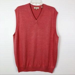 Peter Millar Sweater Vest Coral Silk Cashmere